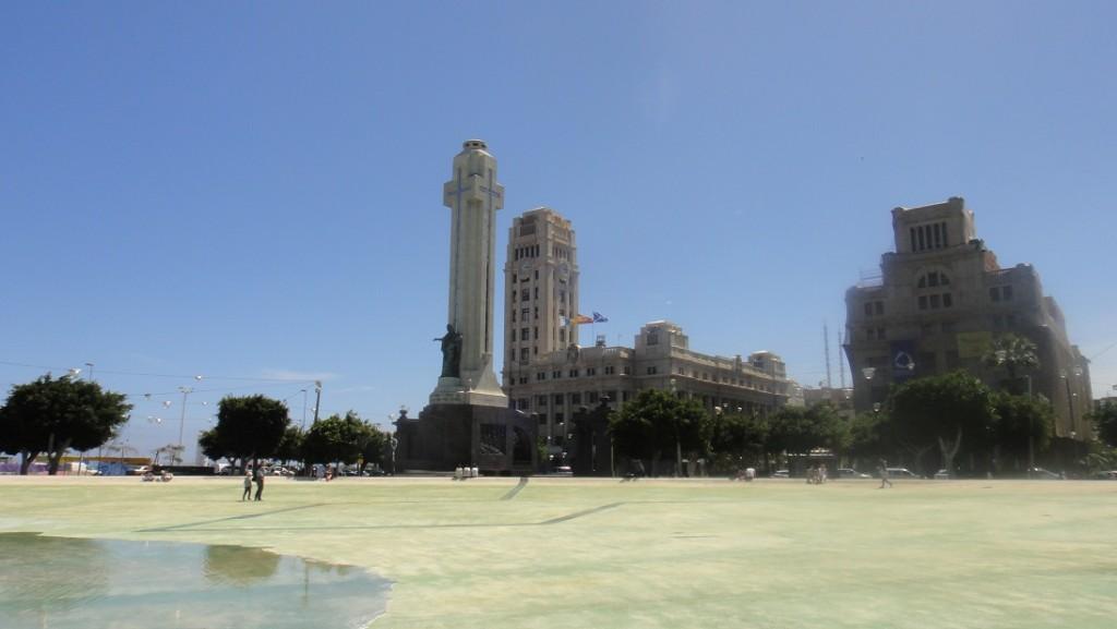 西班牙廣場 Plaza de Espana (是太陽大到連照片都模糊了嗎~)
