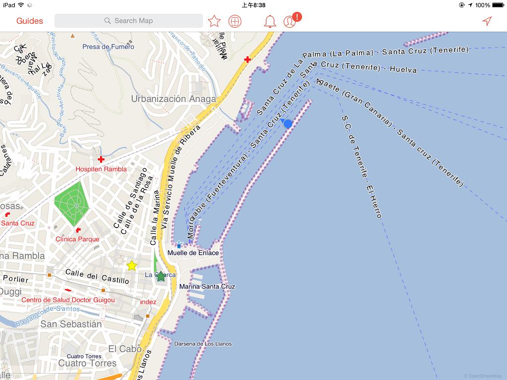 當天有好幾艘郵輪停靠,我們是停得最遠的 (最後停靠港口的位置)