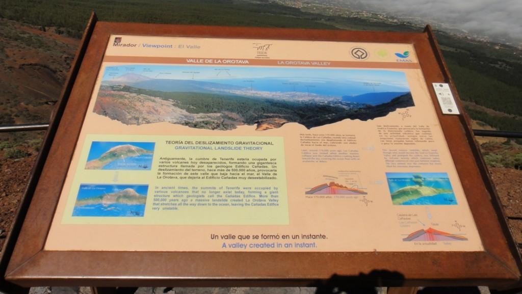 觀景台也有一些簡單的解說,講解以前的火山活動和地形的形成