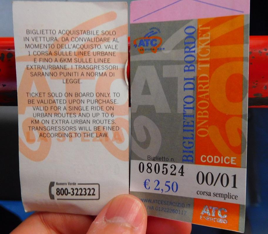 到火車站的公車票 2.5 歐 (歐洲各地票價每年多少會調漲,票價請大家參考即可)