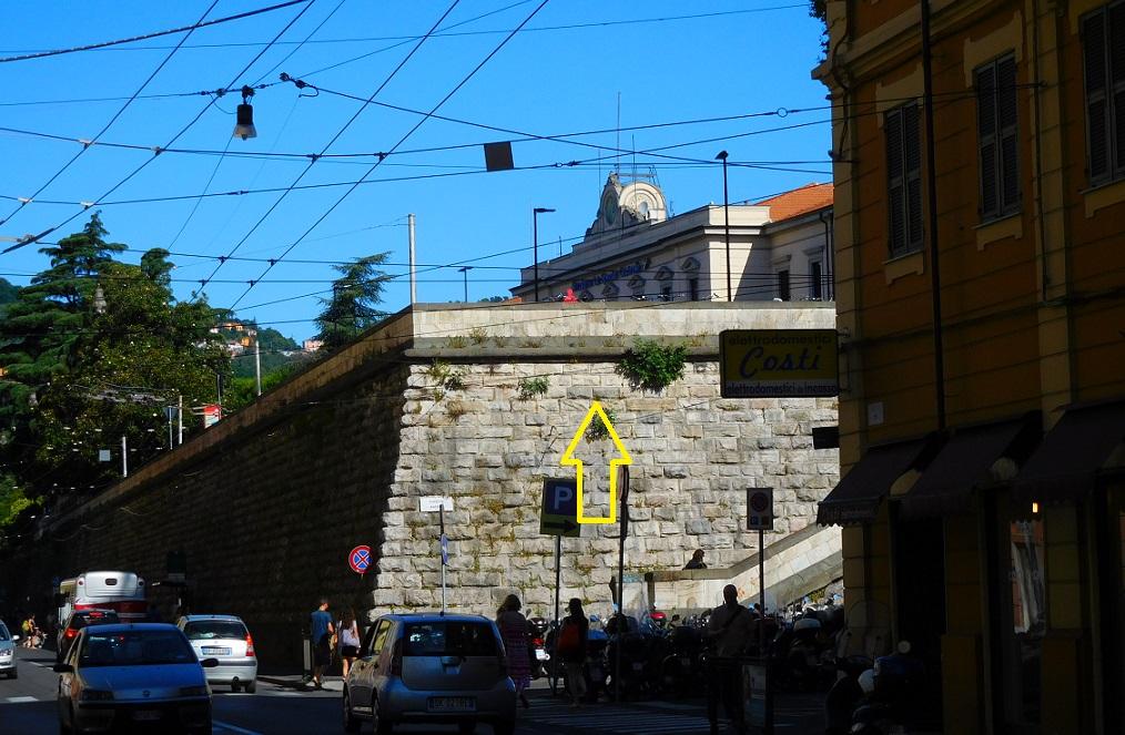 爬上這個樓梯就是 La Spezia 火車站了