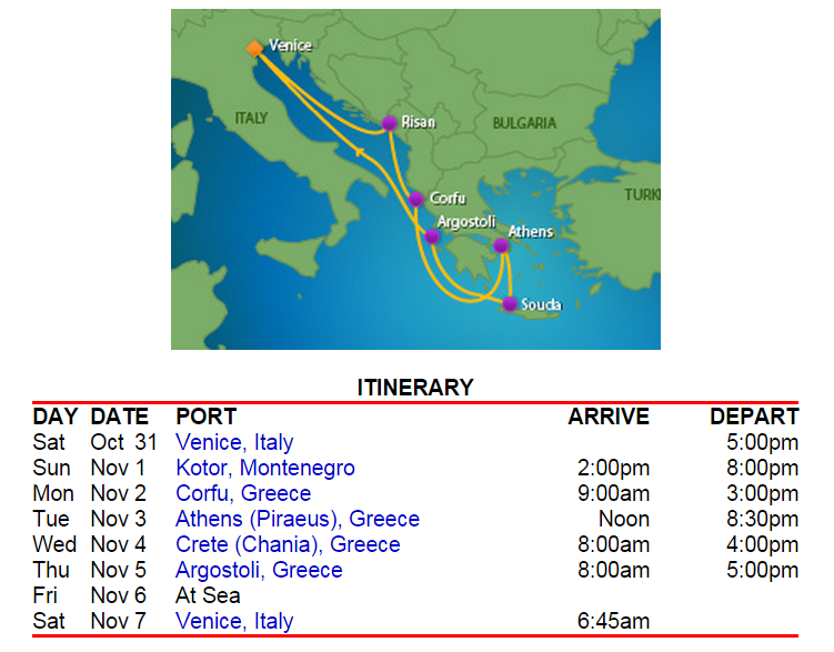 7 天的希臘島嶼行程