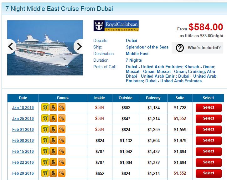 皇家加勒比海的船票目前促銷,有些日期出發的比 MSC 便宜一點點