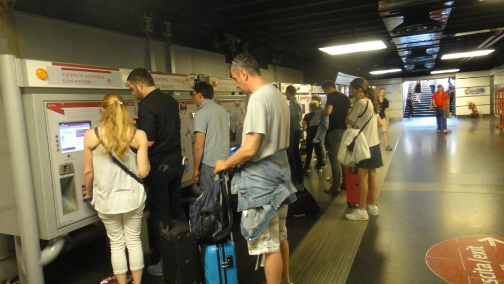 賣羅馬地鐵的自動售票機