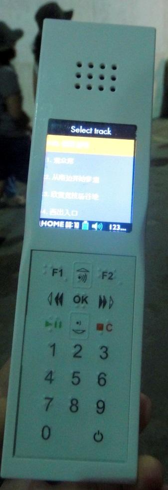 有中文的語音導覽 (約 6 歐),但是相當的有聽沒有懂