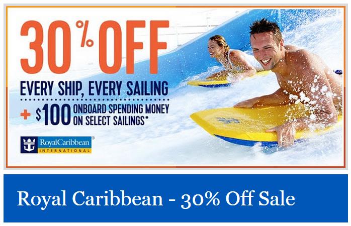 皇家加勒比海推出船費打7折的優惠