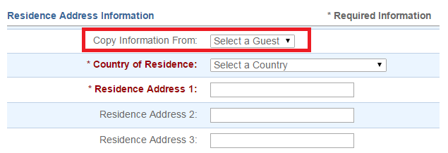 很多內容都可以自動點選帶入前面填過的旅客資料