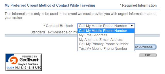 選擇緊急連絡方式