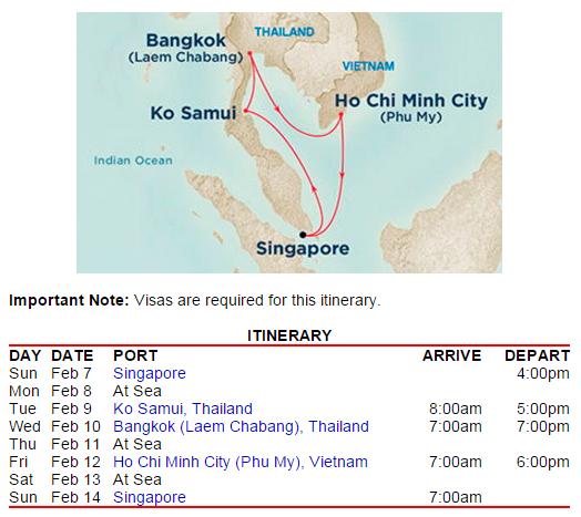 路線很不錯,這時候到東南亞剛好可以避寒