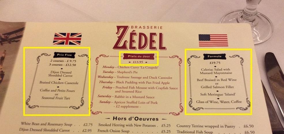 第一次來的朋友,可以考慮試試 Zedel 的套餐