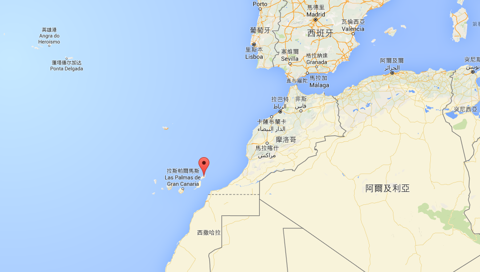 Lanzarote 位在摩洛哥旁的西非外海