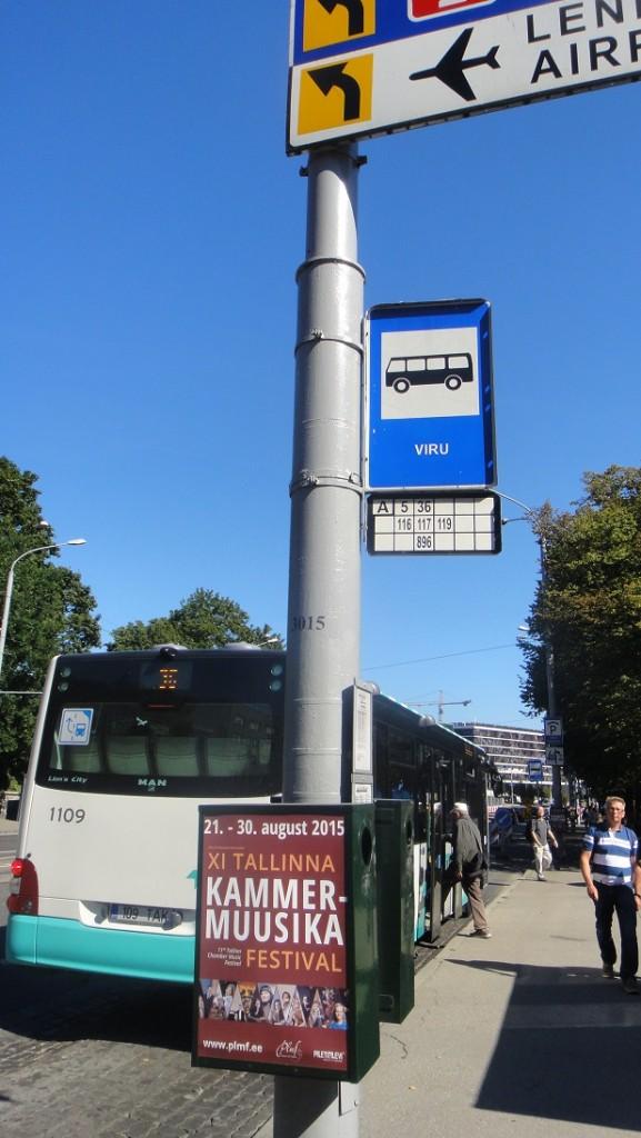 viru 站的公車候車站牌
