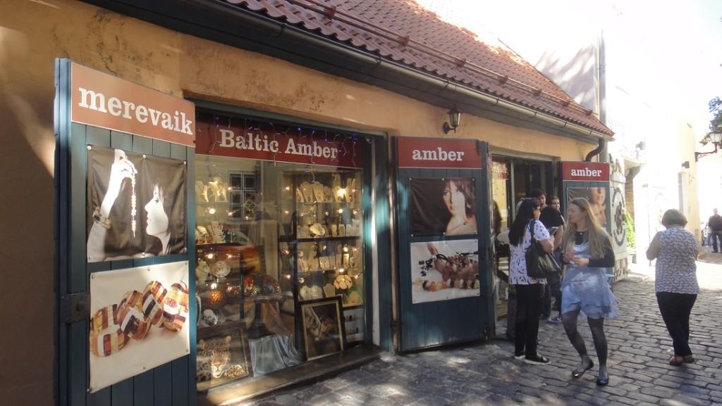 愛沙尼亞的琥珀專賣店