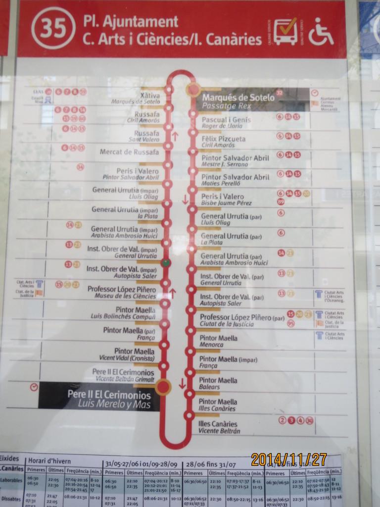 141127瓦倫西亞35號公車站名