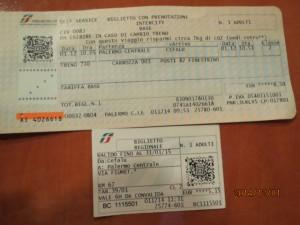 141201巴勒摩往切法爐火車票