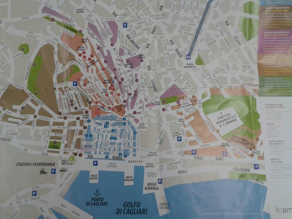1129卡利亞里地圖