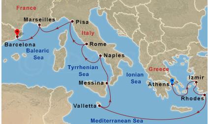 地中海東西大縱走
