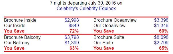 Celebrity 的7天高檔5星級行程,不到台幣 3萬