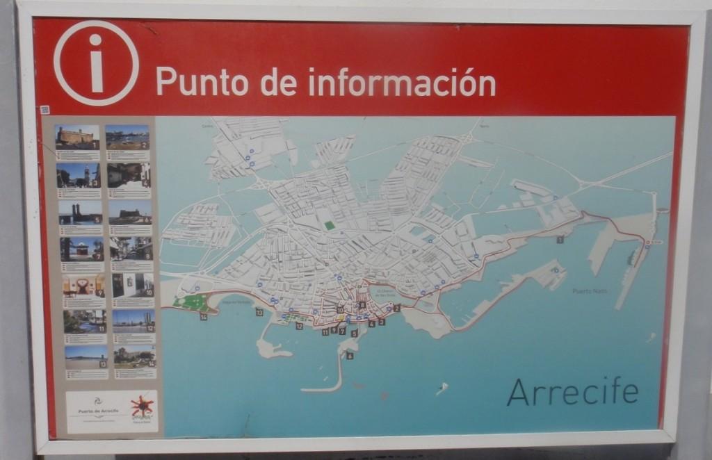 Arrecife 的觀光景點都在港口邊步行可到的距離 (不過從碼頭過去,需要搭接駁巴士喔~)
