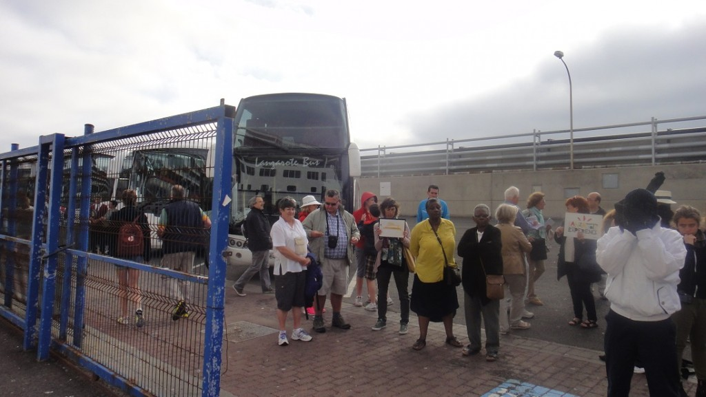 一下船就可以看見很多 local tour 的業者在等旅客 (這些都是在等預約客的喔~)