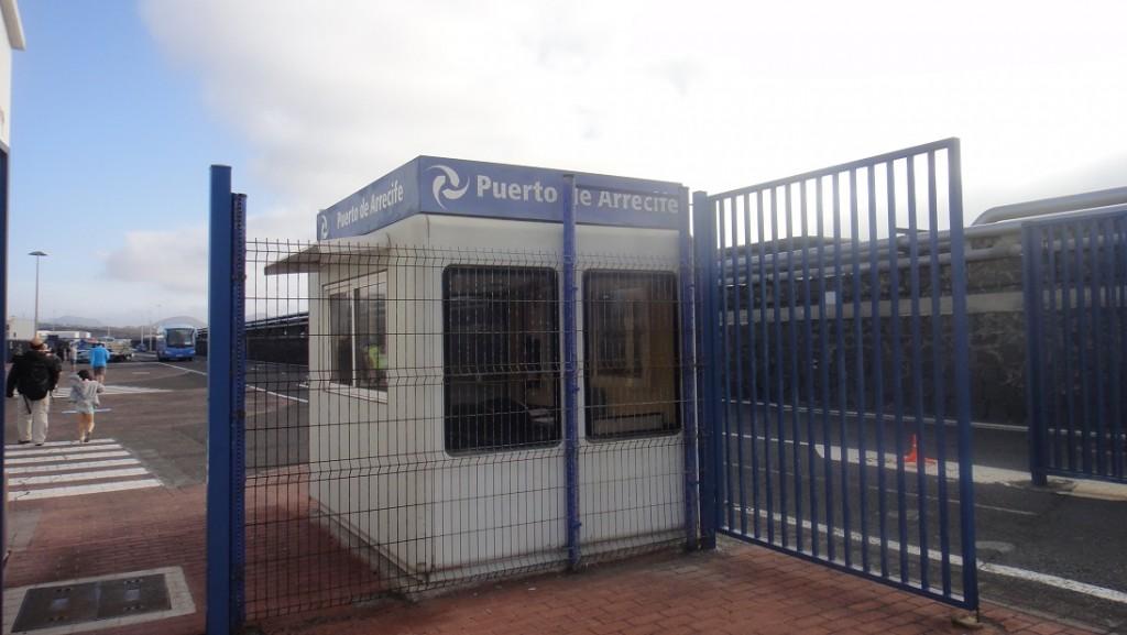 Lanzarote 碼頭的簡單檢查站