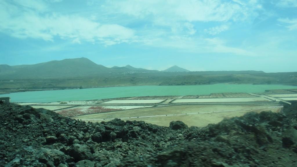 遠方一格一格的,是 Lanzarote 的鹽田