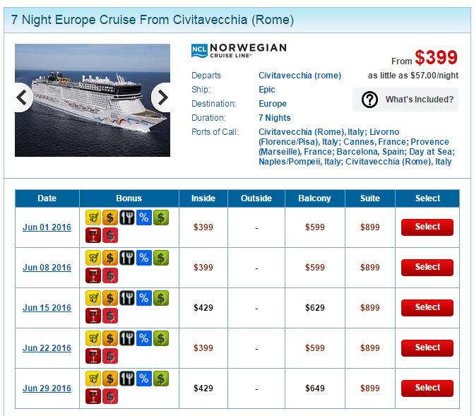 整個 6月的 Epic 西地中海行程幾乎都在特價