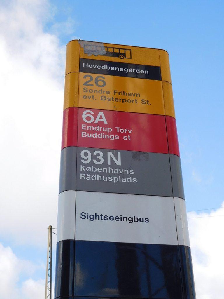 中央車站後方的 26 號公車站牌