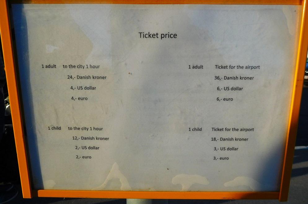 從港口出發的票價