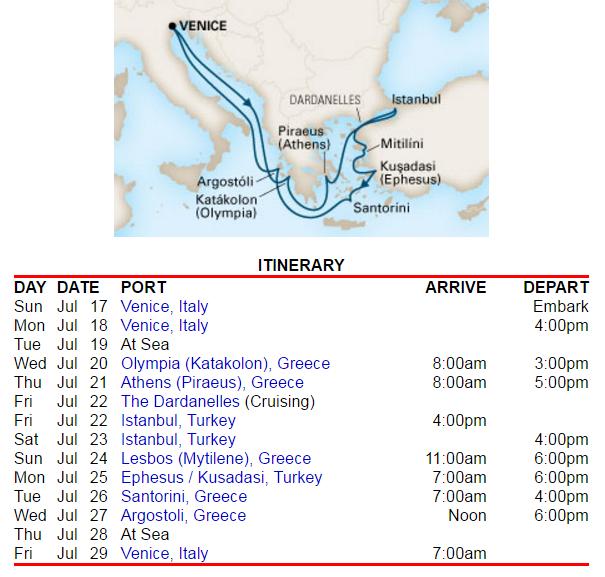 很豐富精采的東地中海行程