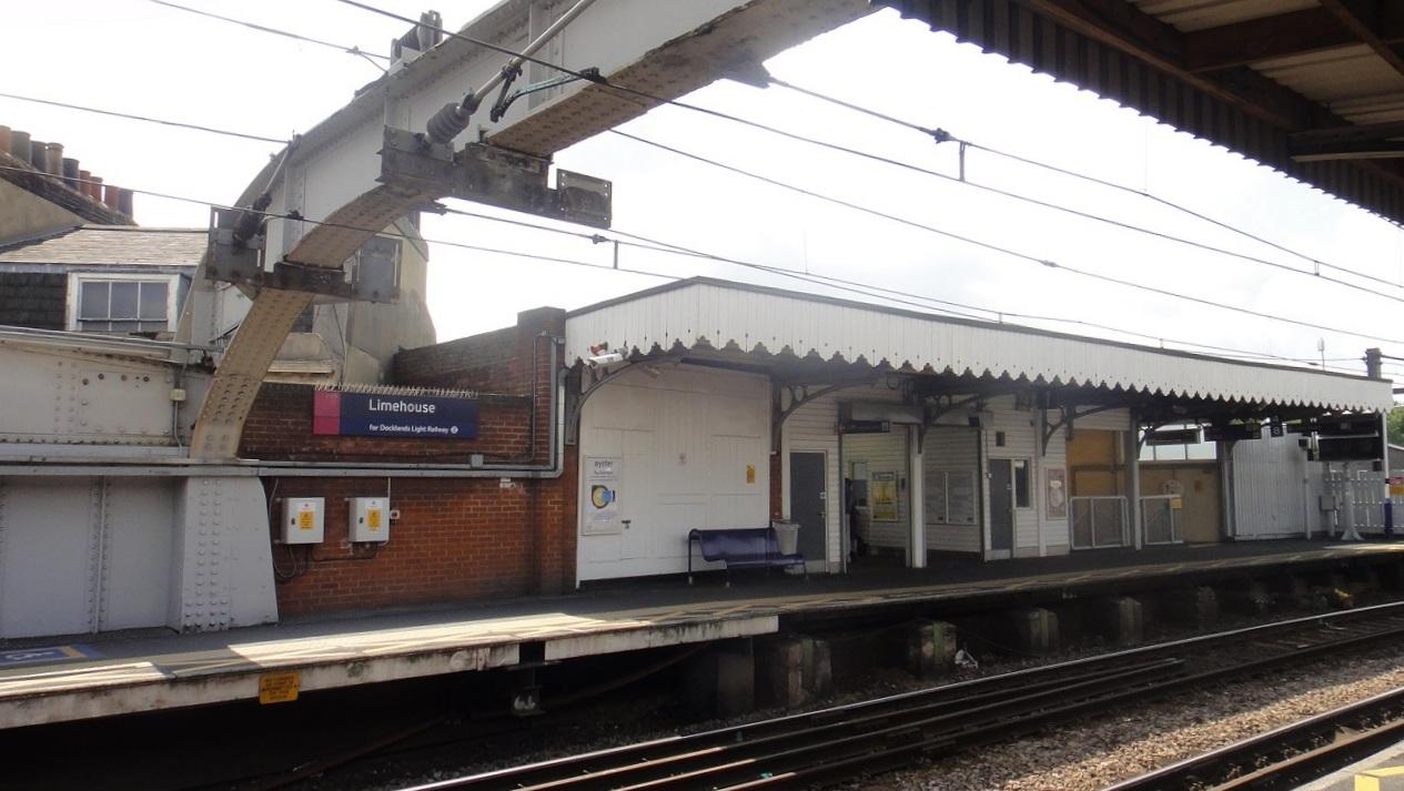 Limehouse 車站很小,十足的英國鄉村風 (就是車站很小,設備很簡單的意思)