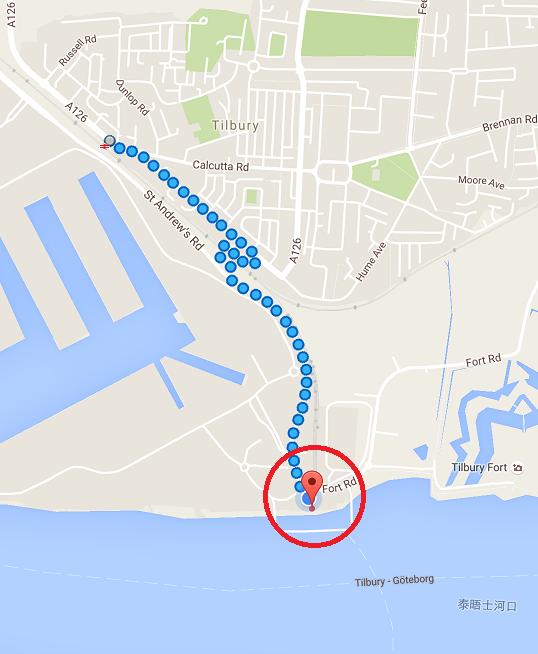 google map 上的位置很準確