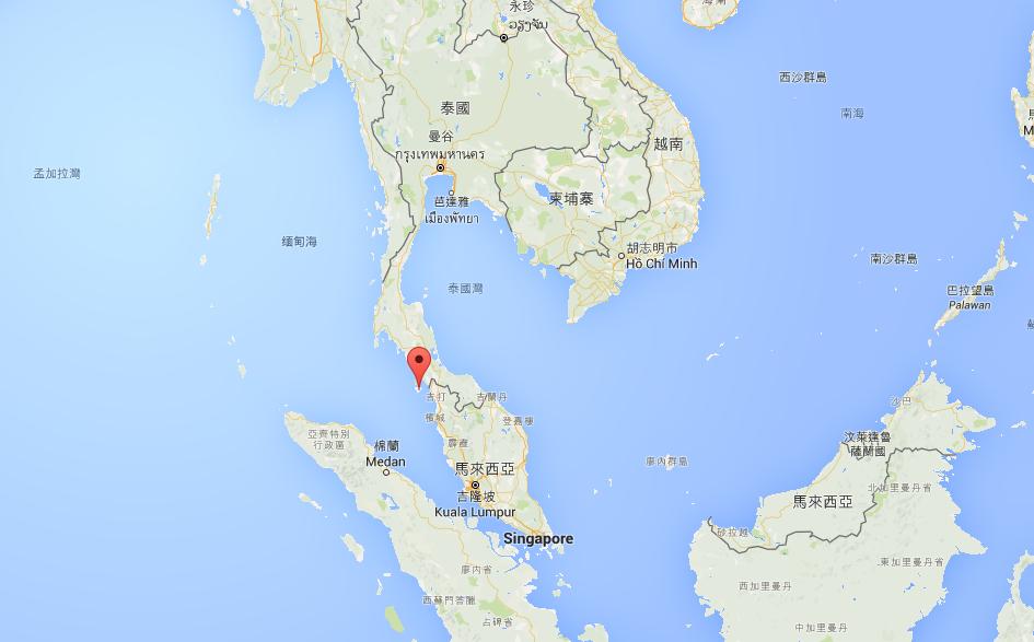 蘭卡威島位在馬來西亞和泰國的交界、麻六甲海峽和安達曼海之間
