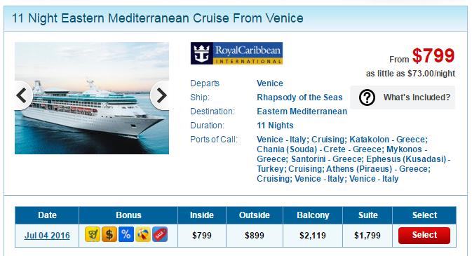 暑假12天11夜的東地中海行程,船票只要台幣 2萬5