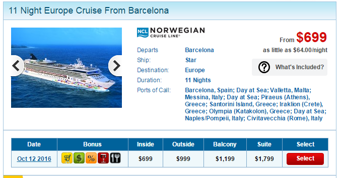 挪威郵輪的12天地中海行程只要台幣2萬3