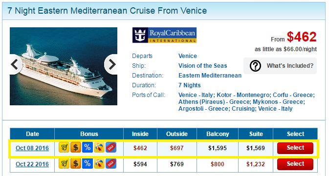 由威尼斯進出的東地中海8天7夜行程,只要台幣1萬5