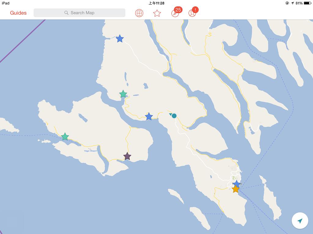 一邊走山路,一邊開 City maps 2go 看我們到哪裏了