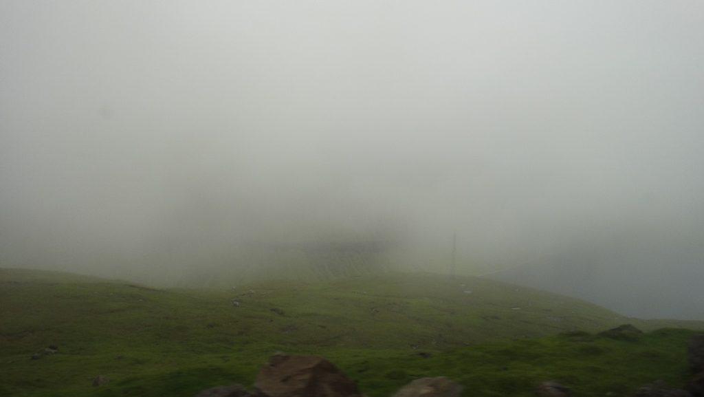 聽說這裡山上長年都是霧氣這樣重的