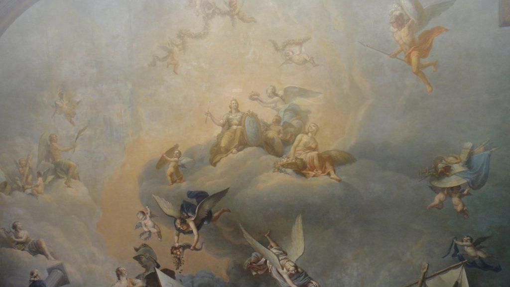 第二次世界大戰劫掠、破壞了很多藝術品,但是壁畫還幸運的保存下來