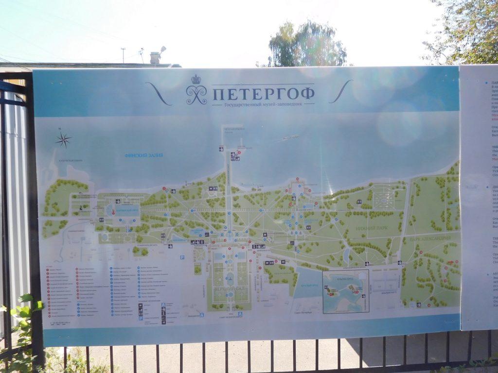 Peterhof palace 的地圖