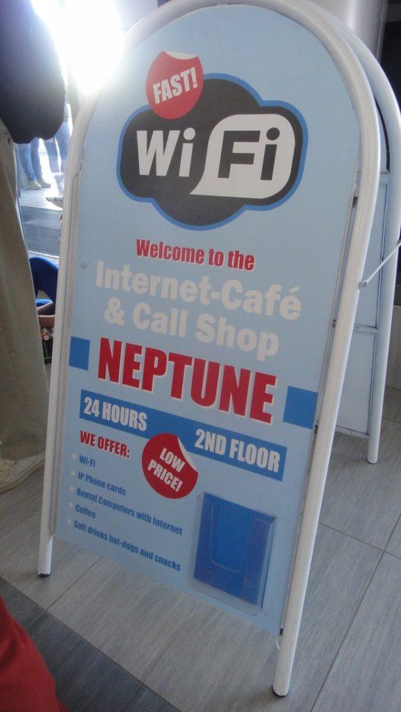 港口 Terminal 裡有網咖,不過似乎有人營業的時間不是很固定