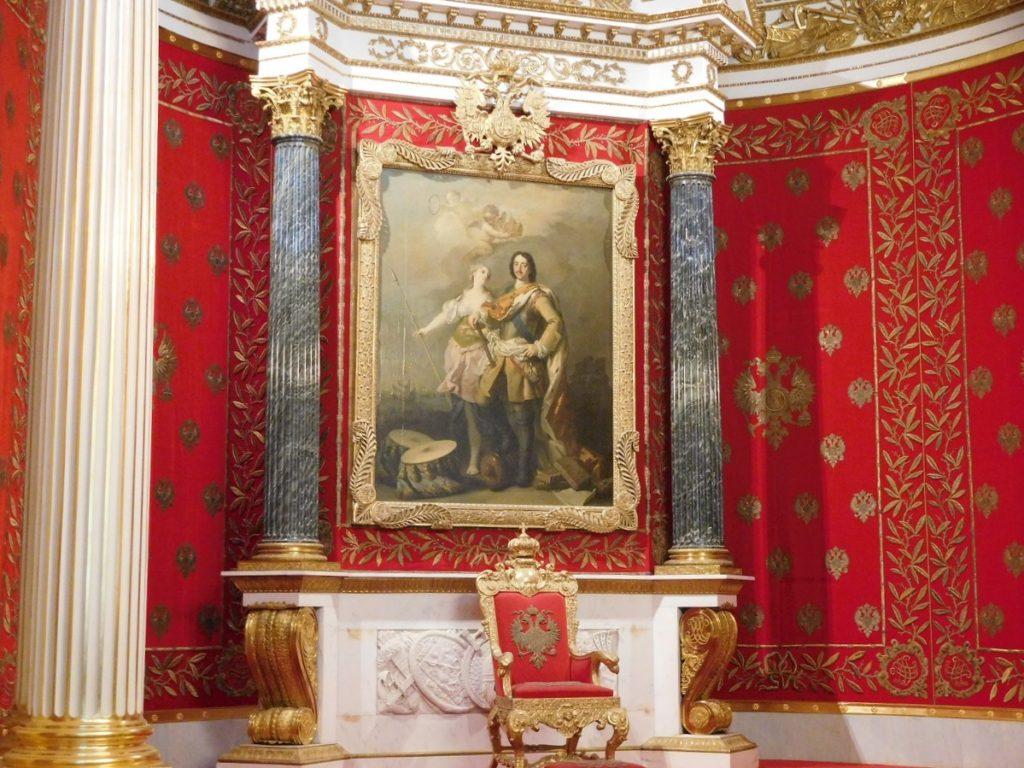 冬宮裡的俄羅斯皇室寶座