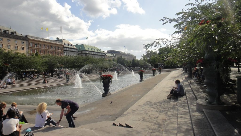 斯德哥爾摩市中心的國王花園,是當地居民休憩的場所