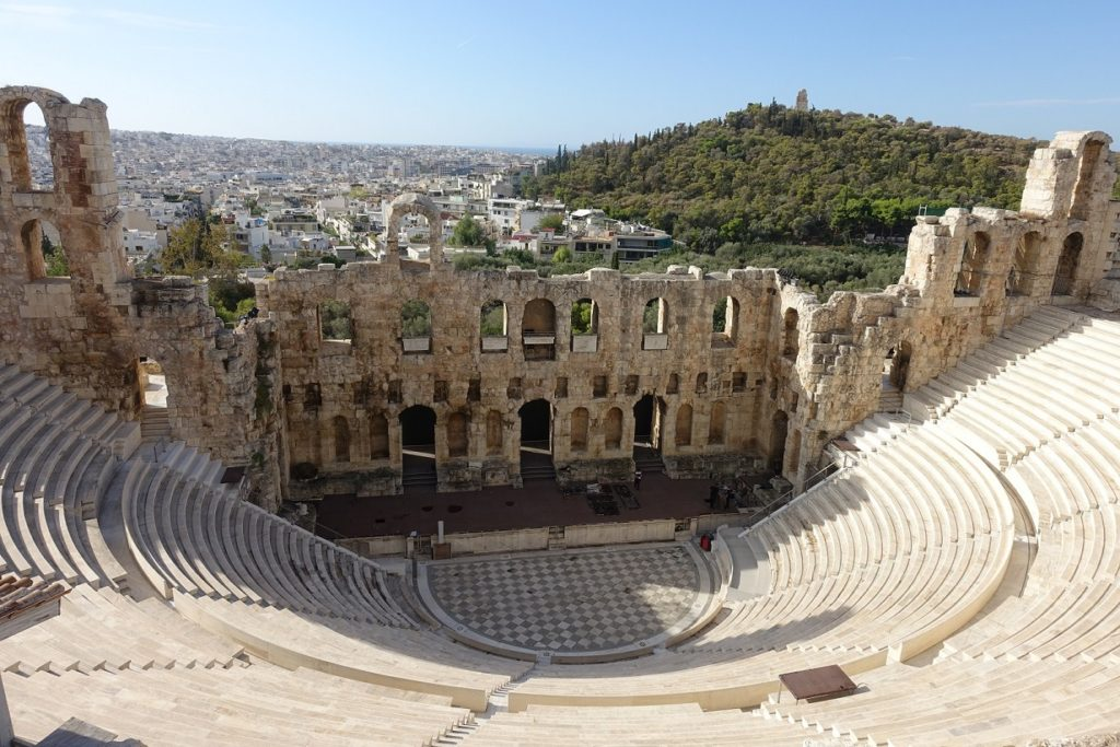 保存特別好的Odeon of Herodes Atticus 劇場