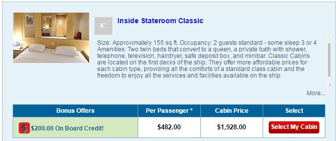 加進兩個小朋友,內艙家庭房一個人只要482美金