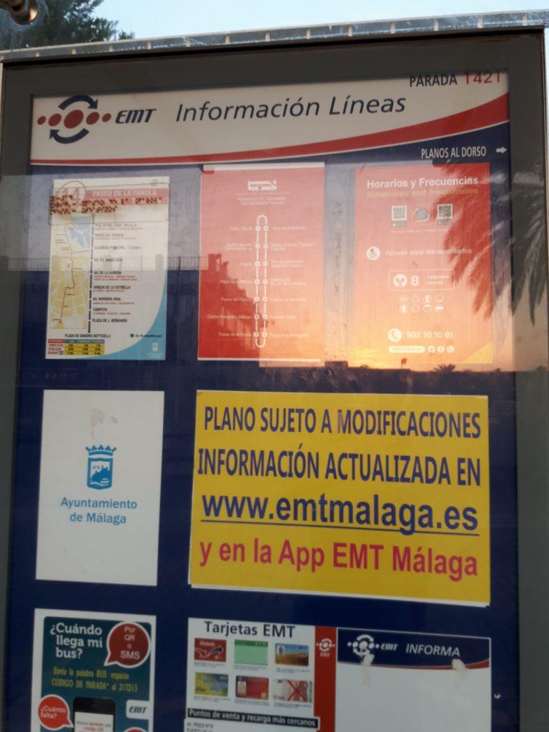 馬拉加的港口巴士資訊